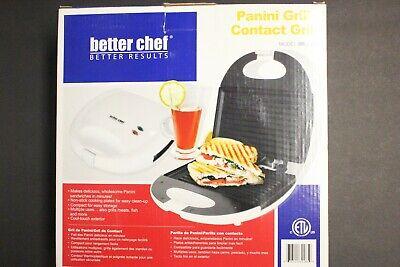 Better Chef White Panini Contact Grill IM-285W Brand New in Box Sandwich