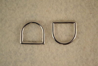 """Dee Ring - 5/8"""" - Nickel Plated - Set of 100 (F328)"""