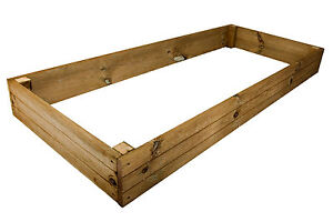 1.7m x 0.7m x 18cm Premium Pressure Treated Raised Vegetable/Flower Bed Planter