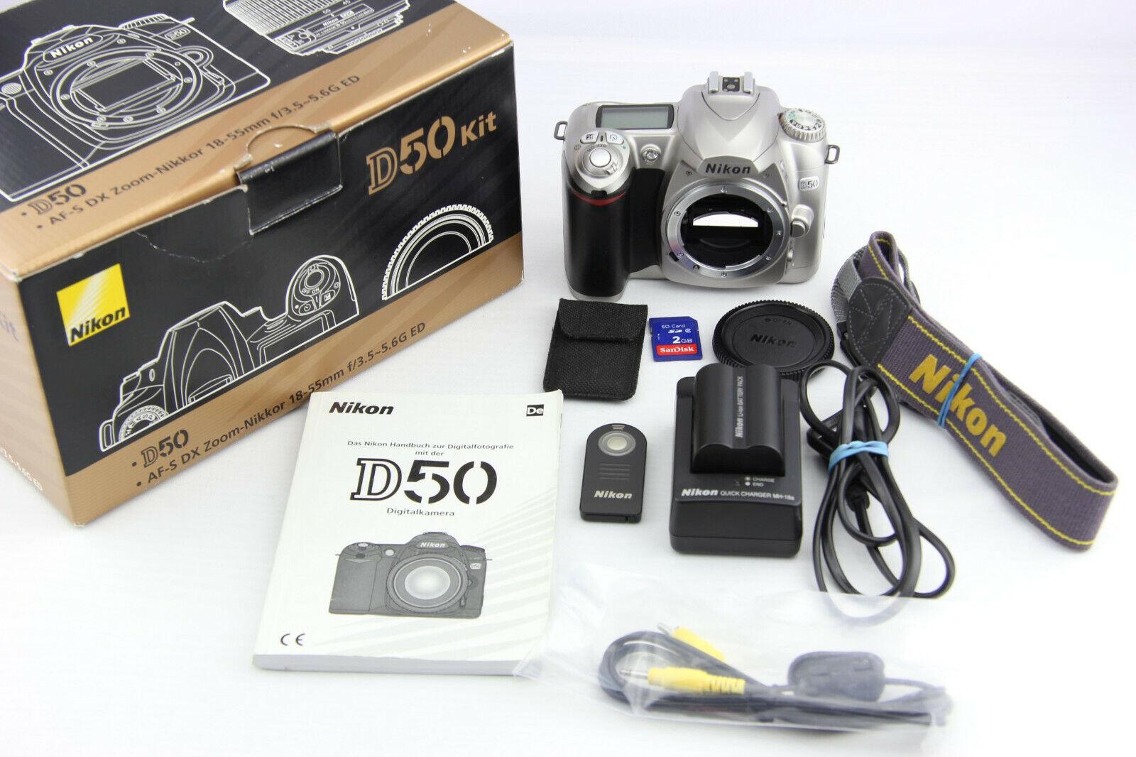 Nikon D50 digitale Spiegelreflexkamera 46,5 Tsd. Auslöser in OVP # 7365