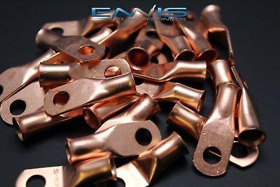 4 Gauge Copper 14 Ring 5 Pk Crimp Terminal Connector Awg Ga Car Eye Cur414