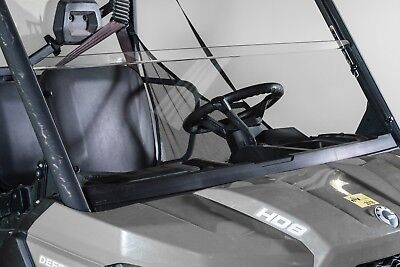 """CAN-AM DEFENDER 1/4"""" SCRATCH RESISTANT 16 1/2"""" TALL HALF WINDSHIELD"""
