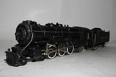 1950'S AMERICAN FLYER PENNSYLVANIA PRR 4-6-2 STEAM LOCOMOTIVE & TENDER, ORIGINAL