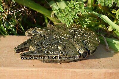 Star Wars Millennium Falcon Stone Garden Ornament Gold Infusion -Free UK P&P