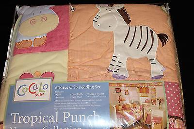Cocalo Tropical Punch 6 Pc Crib Nursery Set girls nursery bedding -