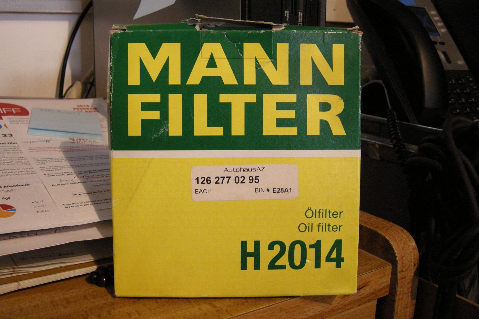 Mann Filter H2014 Mercedes-Benz 126 277 02 95 Auto Trans Oil Filter
