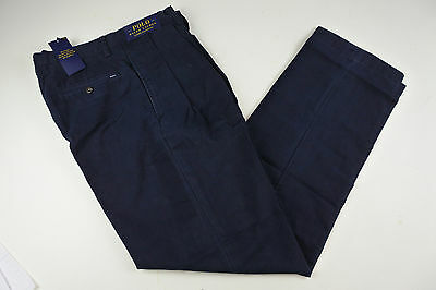 Polo Ralph Lauren Men's Classic Pleated Pants AVIATOR NAVY 36 X 32 NWT