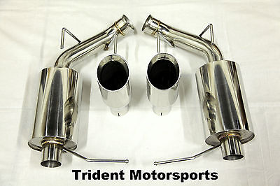 - Trident Motorsports 11-14 Ford Mustang V6 3.7L Axle Back Muffler Exhaust TW Tips