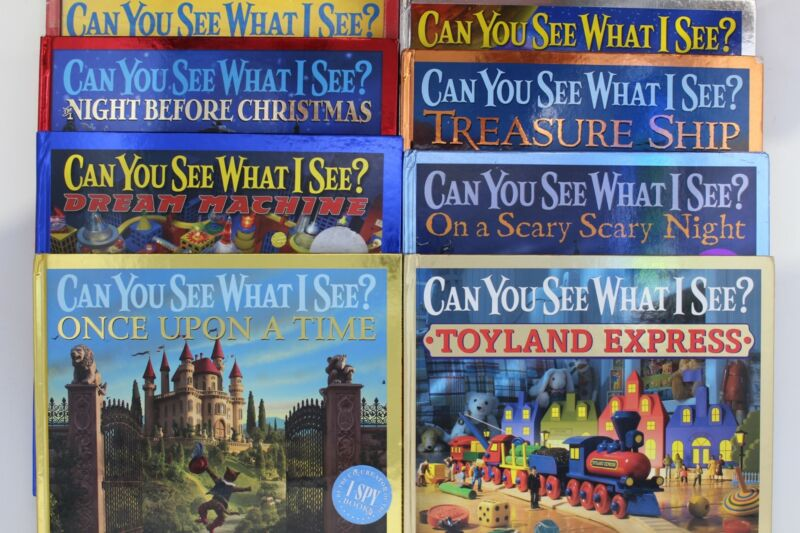 Lot of 5 Can You See What I See? Hardcover Books MIX