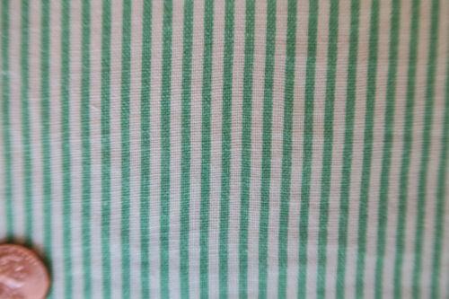ONE VINTAGE FEEDSACK GREEN STRIPES  37x46   PRISTINE