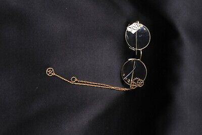 Steampunk Glasses, monocle with chains
