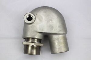 GM Stainless Steel Exhaust Mixing Elbow Replaces Yanmar GM/QM 124070-13520