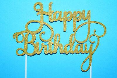 Happy Birthday Diy Cake Topper Tortendekoration Kuchenfiguren Backen Eventdeko ()