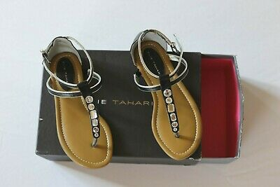 ELIE TAHARI GIRLS JEWELED SANDALS SIZE 1 NEW - Girls Jeweled Sandals