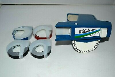 Dymo Hobbyist 1895 Hand Held Label Printer w/Tapes Dymo Colored Label Printer