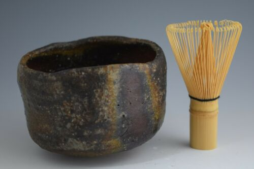 Not Used!! Japanese Bizen-ware Tea Bowl for Tea Ceremony by English Potter 246