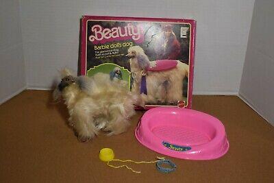Vintage 1979 Afghan Hound Beauty Barbie Doll's Dog Mattel #1018