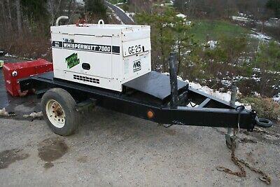 Multiquip Whisperwatt 7000 W 120240 V Ph 1 60 Hz Generator Diesel Trailer Mount