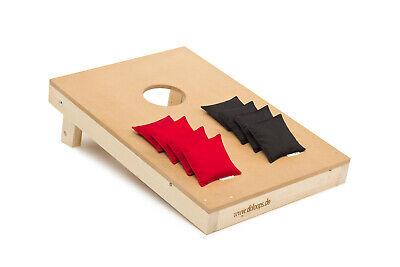 Original Cornhole Set  -  Spielset mit 1 Board + 4 rote und 4 schwarze