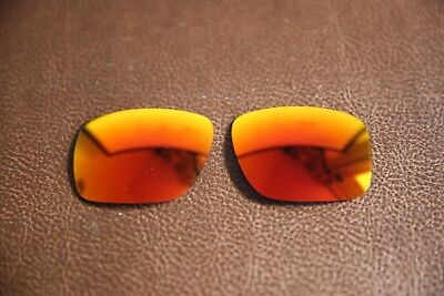 PolarLenz POLARIZED Fire Red Iridium Replacement Lenses for-Oakley Holbrook