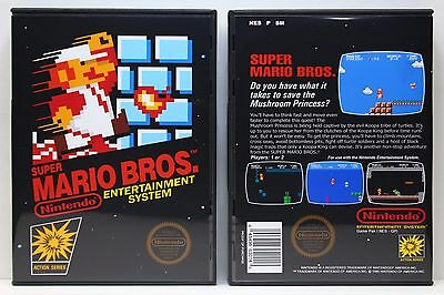 Super Mario Bros. 1 - Nintendo NES Custom Case - *NO GAME*