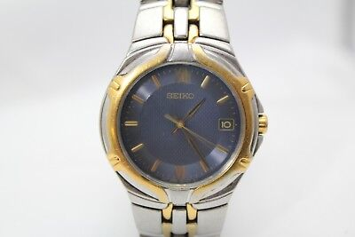 Seiko  7N42-6C10 Mens STAINLESS & Gold Plate  Bracelet Watch