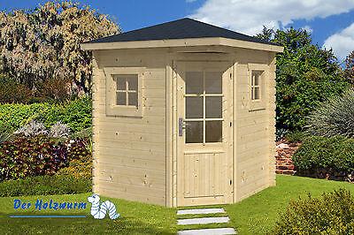 28 mm Gartenhaus Petit ca. 200 x 200 cm Gerätehaus Holz Schuppen Blockhütte