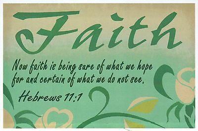 Hebrews 11:1 Bible Quote, Faith, God - Religious & Inspirational Modern Postcard
