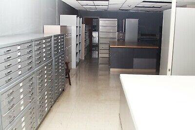 80  Steel 5 Drawer Flat File Filing Cabinet Blueprint Artbase