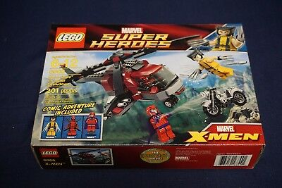LEGO MARVEL SUPER HEROES #6866 DEADPOOL WOLVERINE MAGNETO CHOPPER 201 PCS SEALED