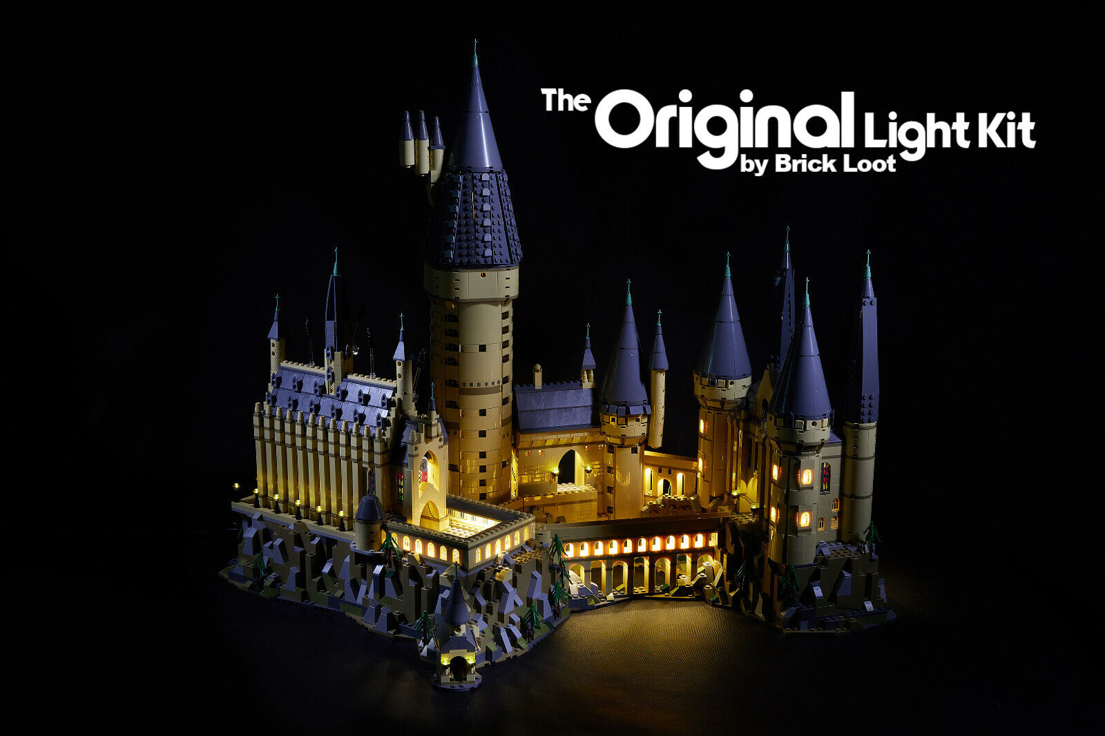 BUILDING SET NOT INCLUDED LIGHTING KIT FOR Hogwarts Castle 71043 By Light My B