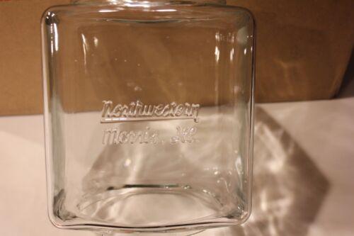 EMBOSSED NORTHWESTERN MODEL 60 GUMBALL MACHINE GLASS GLOBE
