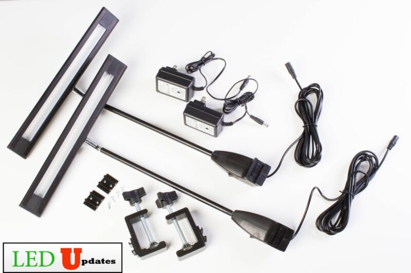2x Bright Trade Show LED Light for Exhibit backdrop display 20W with UL Power