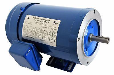 Ac Motor 1.5hp 1725rpm 3ph 208-230v460v 56ctefc With Base