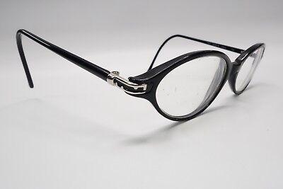 Authentic Fendi F507 Rx Eyeglasses Frames 50[]16-135 Black Onyx Cat Eye 5926