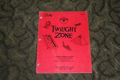Bally Twilight Zone Pinball Manual (SEE PHOTOS)