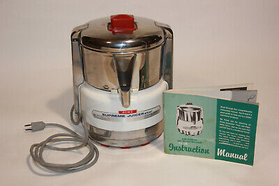 ACME SUPREME JUICERATOR Model 6001 Stainless Steel Commercial Juicer & Manual