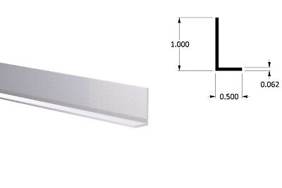 Aluminum Angle 12 X 1 X 116 Wall 3 Foot Length Clear Anodized