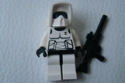 1 Stück Figur SCOUT TROOPER mit Waffe und Helm (Scout Trooper Helm)