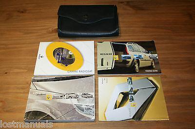 RENAULT SCENIC Mk2 OWNERS MANUAL HANDBOOK, WALLET, 2003-2007, AUDIO MANUAL