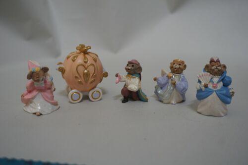Disney Lot 5 Mini Hallmark Figures Cinderella Pumpkin Godmother & Prince 1994