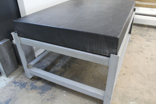 """48"""" x 72"""" x 8"""" BLACK GRANITE SURFACE INSPECTION PLATE ON STEEL STAND In Colorado"""