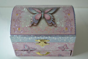Girls Ballerina Jewellery Music Musical Box Butterfly Ideal Flower Girl Gift
