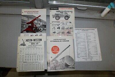 Austin Western Hydraulic Crane Brochures 5pc 1960s Model 220 Hamilton