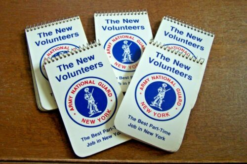 5-- NEW YORK ARMY NATIONAL GUARD POCKET NOTEBOOKS-GOOD CONDITION