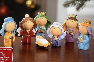 Holiday Time Children's Nativity Set 7-Piece Youth Christmas Decor  - Child Nativity Set