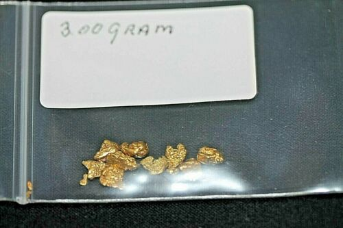GOLD NUGGETS 3.00 GRAM, ALASKAN NATURAL PLACER # 6, HI PURITY,  *LOW SHIPPING*.