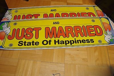 WEDDING: 2 two large Just Married-Happiness * Plastic  37