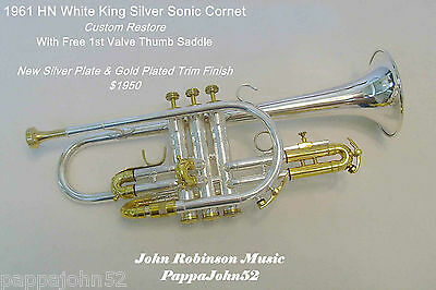 *ON SALE NOW - KING SILVER SONIC CORNET -1961- H N White Co - CUSTOM RESTORE