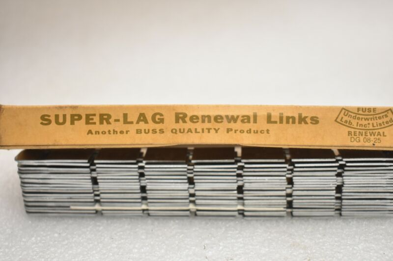 Lot of 20 New Bussmann Super Lag LKS60 600VAC Renewable Fuse Links. New in Box